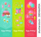 festive birthday congratulation ... | Shutterstock .eps vector #380466904