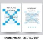 abstract vector modern flyers... | Shutterstock .eps vector #380469109
