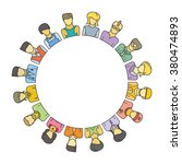 people group form circle shape... | Shutterstock .eps vector #380474893