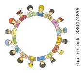 people group form circle shape... | Shutterstock .eps vector #380474899
