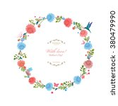 round floral frame for your... | Shutterstock .eps vector #380479990