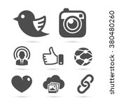 social network icons isolated... | Shutterstock .eps vector #380480260