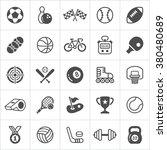 trendy sport flat icons. vector | Shutterstock .eps vector #380480689