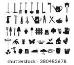 garden black silhouette icons... | Shutterstock .eps vector #380482678