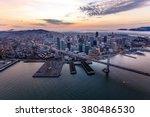Aerial Of Foggy San Francisco...