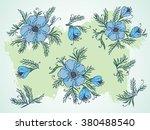 vector set of hand drawn... | Shutterstock .eps vector #380488540