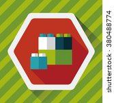 building blocks flat icon with ...