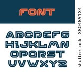 vector letters. design of the... | Shutterstock .eps vector #380489134
