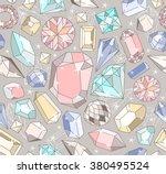 seamless pastel diamond pattern ... | Shutterstock .eps vector #380495524