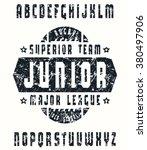 sanserif  font in sport style... | Shutterstock .eps vector #380497906