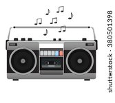 vintage tape recorder for audio ... | Shutterstock .eps vector #380501398