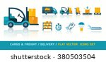 freight delivery transportation ... | Shutterstock .eps vector #380503504