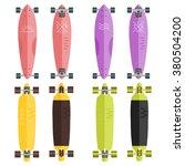 vector set of longboards.... | Shutterstock .eps vector #380504200