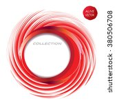 red whirlpool abstract circle... | Shutterstock .eps vector #380506708