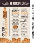 beer restaurant brochure vector ... | Shutterstock .eps vector #380513548