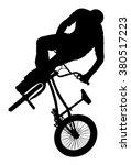 bicycle stunts vector... | Shutterstock .eps vector #380517223