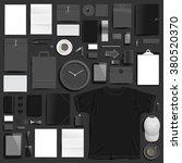 corporate identity template on... | Shutterstock . vector #380520370