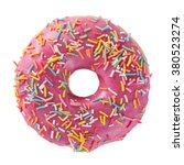 donut with sprinkles isolated... | Shutterstock . vector #380523274