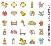 baby  icons set.vector | Shutterstock .eps vector #380529574