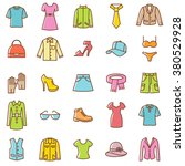 clothes icons set.vector | Shutterstock .eps vector #380529928