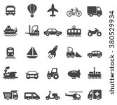 transportation black icons set... | Shutterstock .eps vector #380529934