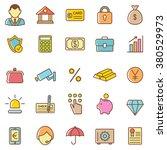 bank icons set.vector | Shutterstock .eps vector #380529973