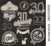vintage style 30 anniversary... | Shutterstock .eps vector #380533000