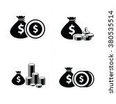 money bag and coins set   Shutterstock .eps vector #380535514