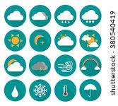weather vector icon set | Shutterstock .eps vector #380540419
