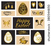 happy easter greeting card.... | Shutterstock .eps vector #380544850