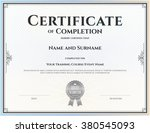 certificate of completion... | Shutterstock .eps vector #380545093
