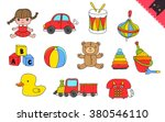 cartoon kids toys | Shutterstock .eps vector #380546110