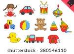 cartoon kids toys   Shutterstock .eps vector #380546110