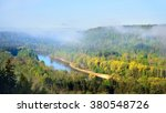 view on gauja valley in spring...   Shutterstock . vector #380548726