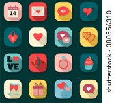 heart icons set  ideal for... | Shutterstock .eps vector #380556310