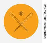 baseball outline vector icon on ... | Shutterstock .eps vector #380559460