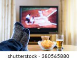 television  tv watching ... | Shutterstock . vector #380565880