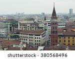 view of milan from the roof of... | Shutterstock . vector #380568496