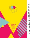 brochure cover with background... | Shutterstock .eps vector #380571313