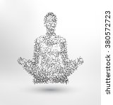 abstract molecule based human... | Shutterstock .eps vector #380572723