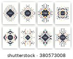 set of geometric abstract... | Shutterstock .eps vector #380573008