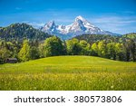 idyllic landscape in the alps... | Shutterstock . vector #380573806