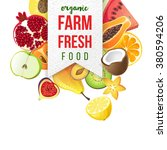 farm fresh emblem with type...   Shutterstock .eps vector #380594206