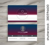 clean visit card | Shutterstock .eps vector #380596600