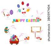 easter bunny set   Shutterstock .eps vector #380597404