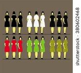 female silhouette vector set   Shutterstock .eps vector #380602468