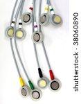 ekg electrodes - stock photo