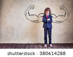 portrait of child businessman... | Shutterstock . vector #380614288