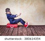 portrait of child businessman... | Shutterstock . vector #380614354