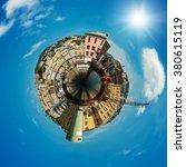 port in genoa is the capital of ... | Shutterstock . vector #380615119